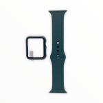 El Rey Pulsera + Bumper Con Protector De Pantalla Para Apple Watch 38 Mm Color Verde Musgo