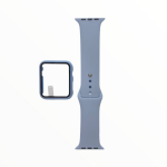 El Rey Pulsera + Bumper Con Protector De Pantalla Para Apple Watch 42 Mm - Celeste Claro