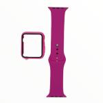 El Rey Pulsera + Bumper Con Protector De Pantalla Para Apple Watch 42 Mm Rojo Rosa