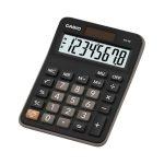 Casio Calculadora Mini de Escritorio MX-8B-W-DC Negra