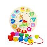 Reloj de Madera Educativo para Niños