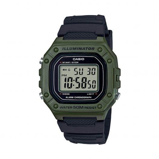 Casio Reloj Digital W-218H-3AVDF Verde