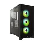 Corsair Case ATX SemiTorre Icue 4000X RGB Vidrio Templado Negro