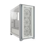 Corsair Case ATX SemiTorre Icue 4000X RGB Vidrio Templado Blanco