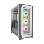 Corsair Case ATX Icue 5000X RGB Vidrio Templado Blanco