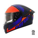 HRO Casco Integral 518DV Ansiex Negro Mate con Naranja Talla L