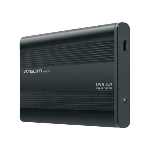 """Argom Gabinete para Disco Duro 2.5"""" SATA USB 3.0 Negro"""