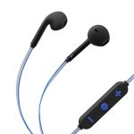 Steren Audífonos Bluetooth 7000 con Cable Reflectante Azul/Gris