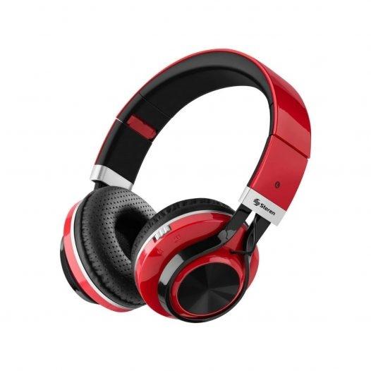 Steren Audífonos Bluetooth Extreme MP3 Rojo