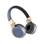 Steren Audífonos Bluetooth Vintage Azul/Dorado