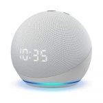 Amazon Echo Dot 4th Gen con Reloj, Alexa color Blanco