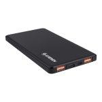 Steren PowerBank de 5000 mAh Turbo Charge QC con 2 Salidas USB y 1 USB-C Negro