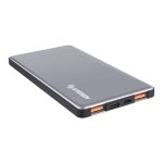 Steren PowerBank de 5000 mAh Turbo Charge QC con 2 Salidas USB y 1 USB-C Plata