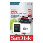 SanDisk Ultra UHS-I Tarjeta MicroSD de 64GB Clase 10
