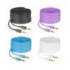 Steren Cable Auxiliar Plug a Plug 3.5mm de 1.8 Mts Azul