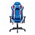 BROCS BR6007 Silla Gaming Respaldo Reclinable Azul/Blanco
