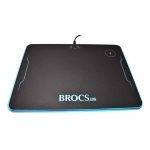 Brocs Mousepad RGB Con Cargador Inalámbrico 10W