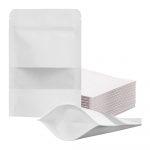 Origami Bolsa Kraft Stand Up con Zipper/ 250g Paquete 50 Blanca