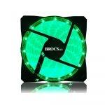 Brocs Ventilador 120mm LED Verde