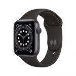 Apple Watch Series 6 GPS  Aluminio gris espacial 44 mm Negro