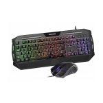 Magnavox Rainbow light Combo Gaming MGA3209 Teclado y Mouse Plástico Negro