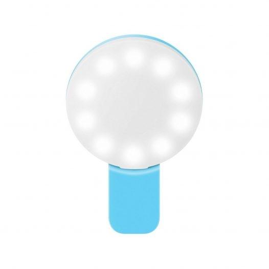 Steren Mini Lampara led con Clip para Celular Aqua