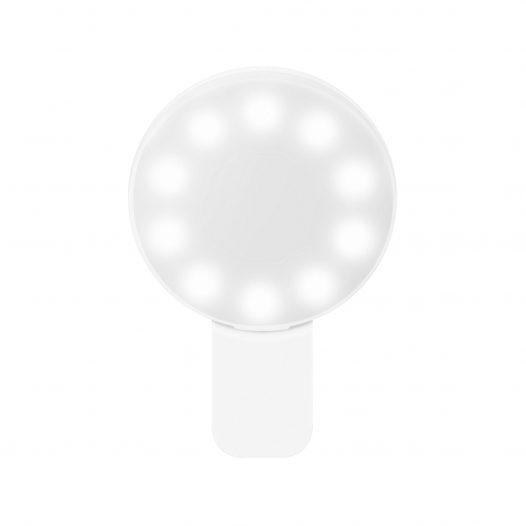Steren Mini Lampara led con Clip para Celular Blanco