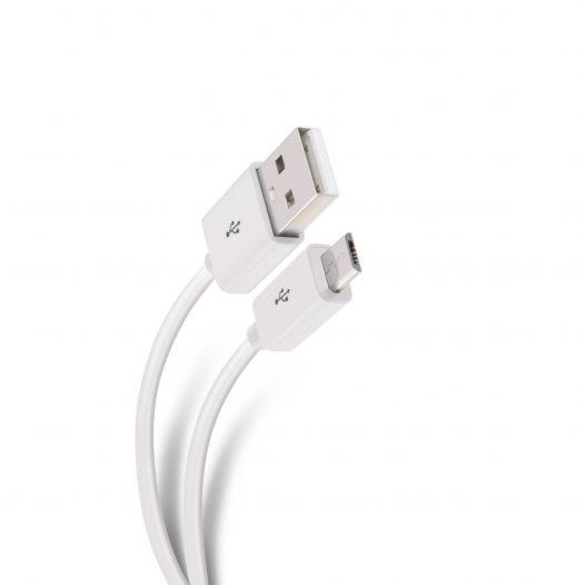 Steren USB a Micro USB de 1.8 Mts Blanco