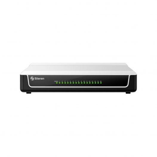 Steren Switch Fast Ethernet de 16 Puertos