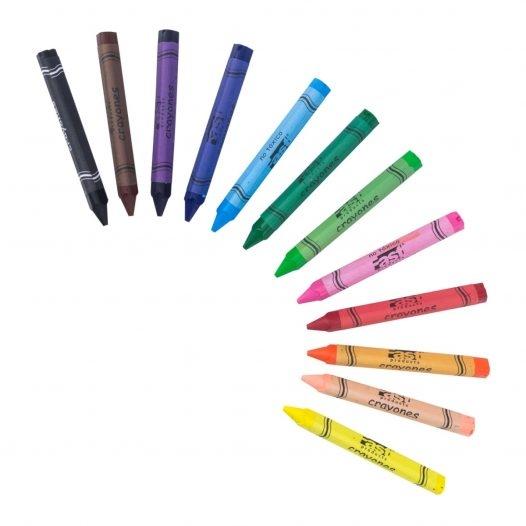 Fast Crayón de Cera T212 Triangular 12 Colores Jumbo