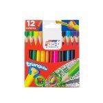 Fast Crayón de Madera 12 Colores Corto Triangular