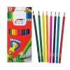 Fast Crayón de Madera Largo Triangular de 12 Colores