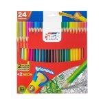Fast Crayón de Madera Largo Triangular de 24 Colores