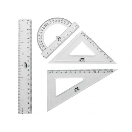 Fast Estuche Geométrico 8901 Pequeño con Regla de 20 cm