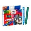 Fast Crayón de Cera T224 Triangular de 24 Colores Jumbo