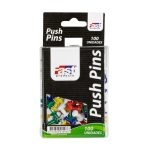 Fast Tachuelas Push-Pins caja de 100 Colores Surtidos