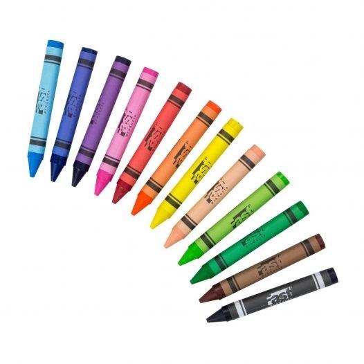 Fast Crayón de Cera 12 Colores Super Jumbo Redondo