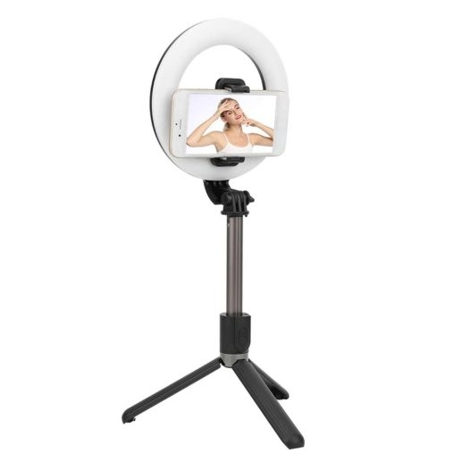 Palo Selfie Stick L07 con Aro de Luz Bluetooth